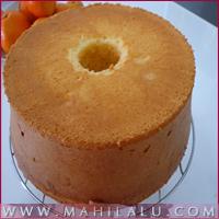 Orange Chiffan Cake With Oranga Honey Sauce