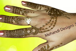 Jewellery mehndi designs for Back hands